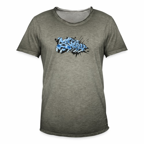 Dae 2Wear graffiti style ver02 LgtBlue edt. - Herre vintage T-shirt