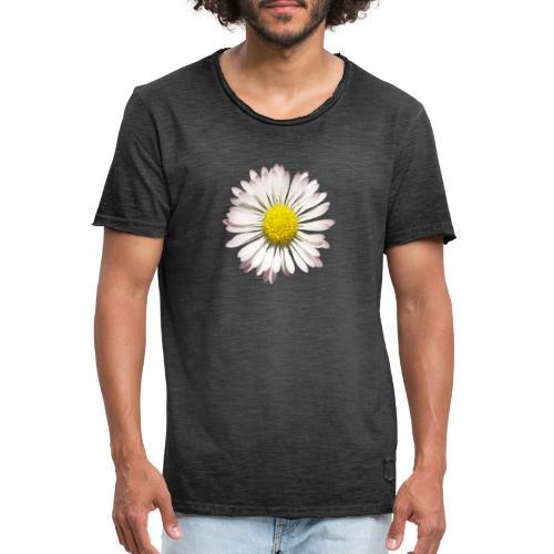 TIAN GREEN Garten - Gänse Blümchen - Männer Vintage T-Shirt
