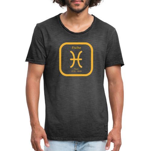 Horoskop Fische12 - Männer Vintage T-Shirt