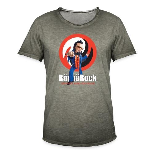 Räyhärock musta - Miesten vintage t-paita