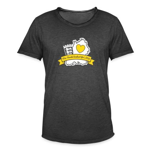 Herzle BW - Männer Vintage T-Shirt