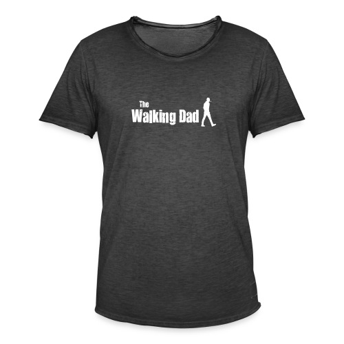 the walking dad white text on black - Men's Vintage T-Shirt