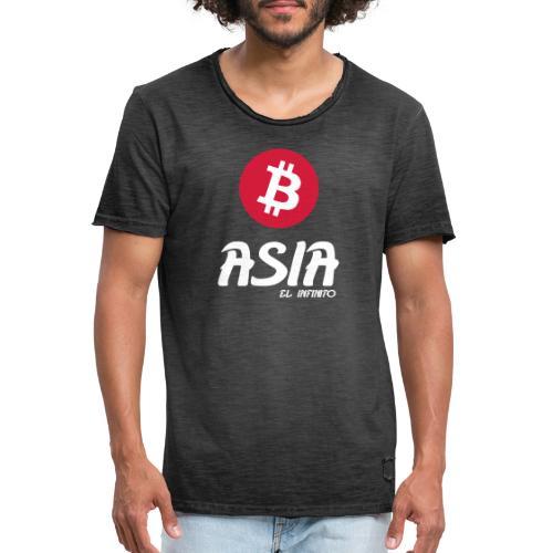 Bitcoin Asia el infinito - Camiseta vintage hombre