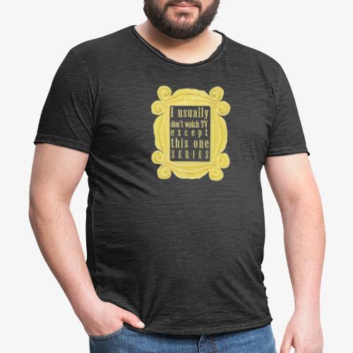 dla tych co lubią serial(e) - Koszulka męska vintage