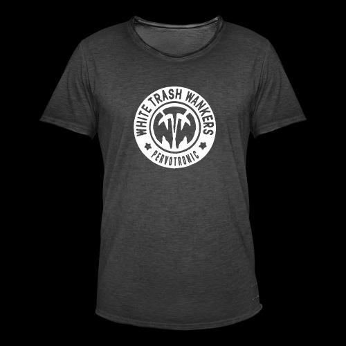 White Trash Wankers Pervotronic-Logo - Männer Vintage T-Shirt