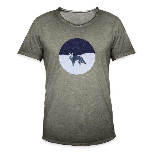 Blue fox - Miesten vintage t-paita