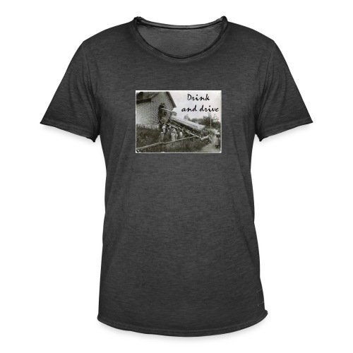 drink and drive - Vintage-T-shirt herr