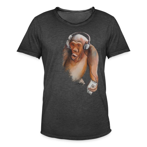 Singe old fashion - T-shirt vintage Homme