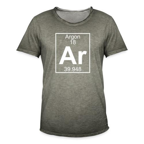 Argon (Ar) (element 18) - Men's Vintage T-Shirt