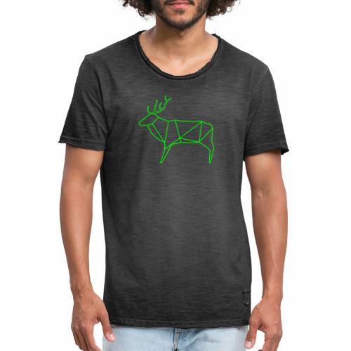 Wired deer - Mannen Vintage T-shirt