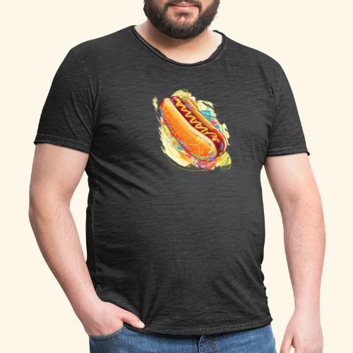 Hot Dog - Camiseta vintage hombre
