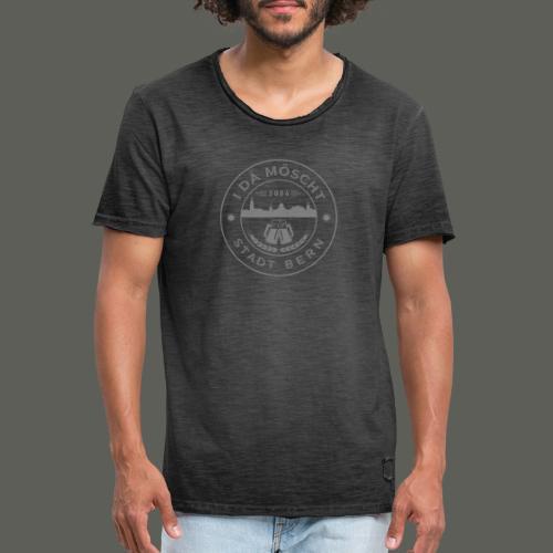 Logo Grau - Männer Vintage T-Shirt