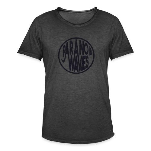 Paranoid Waves - Black - T-shirt vintage Homme