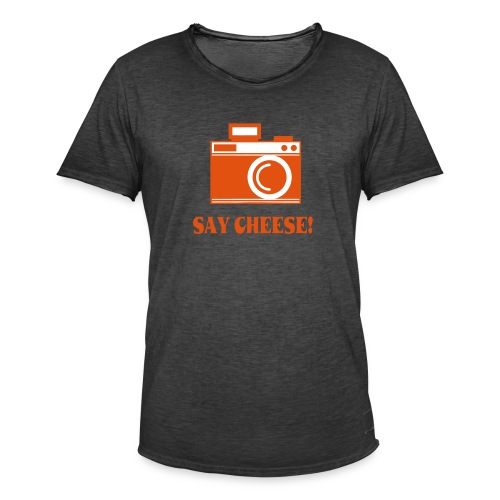 say cheese - Mannen Vintage T-shirt