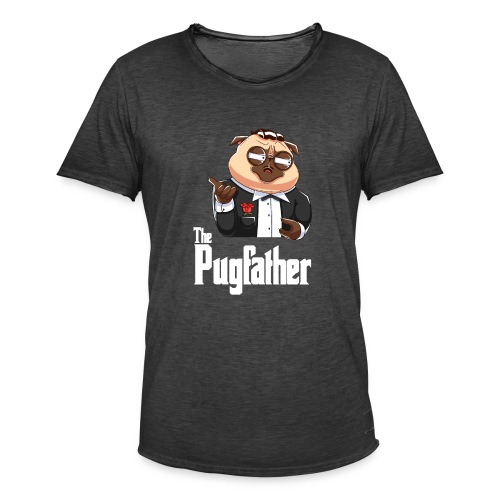 Pugfather - Männer Vintage T-Shirt
