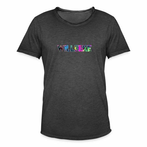 willeeke graffiti whitbar - Vintage-T-shirt herr