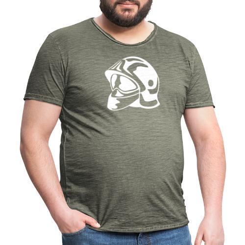 casque_pompier - T-shirt vintage Homme