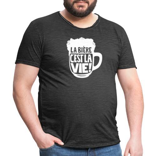 bière, la bière c'est la vie - T-shirt vintage Homme