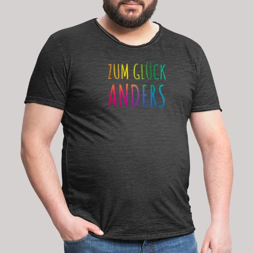 Zum Glück anders - Männer Vintage T-Shirt