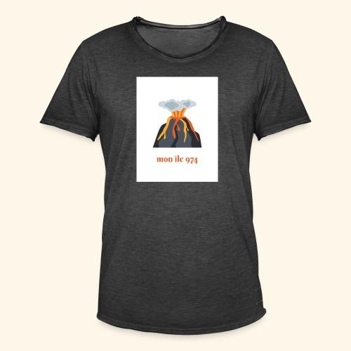 Volcan mon île 974 - T-shirt vintage Homme