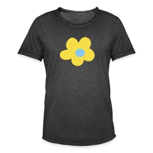 Kinder Comic - Blume - Männer Vintage T-Shirt
