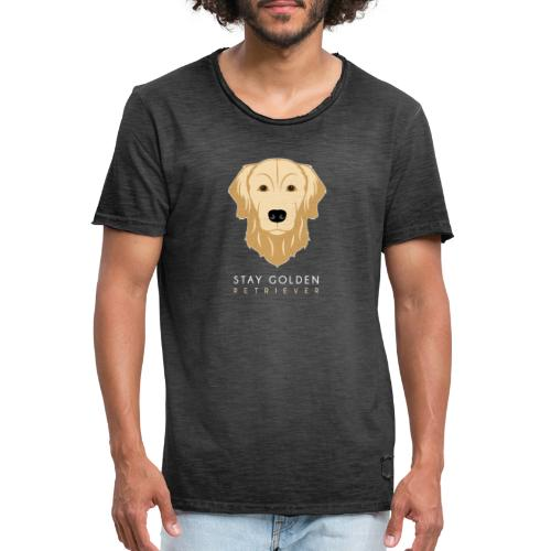 Golden Retriever - Maglietta vintage da uomo