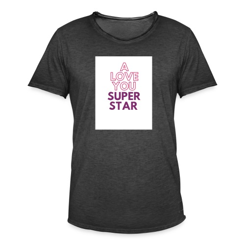 a love you super star - T-shirt vintage Homme