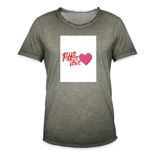 hello paris love rouge - T-shirt vintage Homme