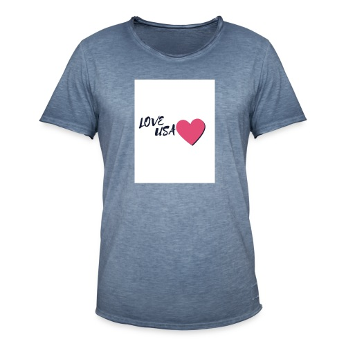 love usa - T-shirt vintage Homme