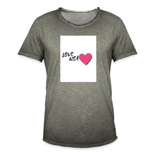 love usa - T-shirt vintage Homme