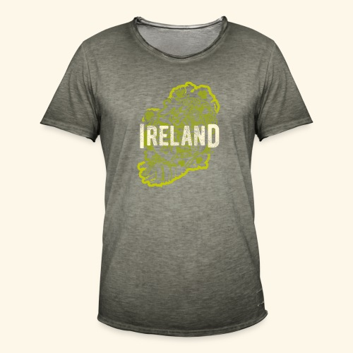 Ireland T Shirt Design - Männer Vintage T-Shirt