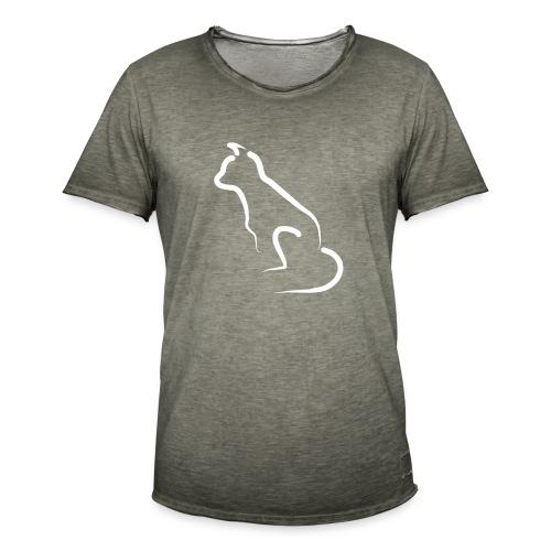katten silhoutte - Mannen Vintage T-shirt