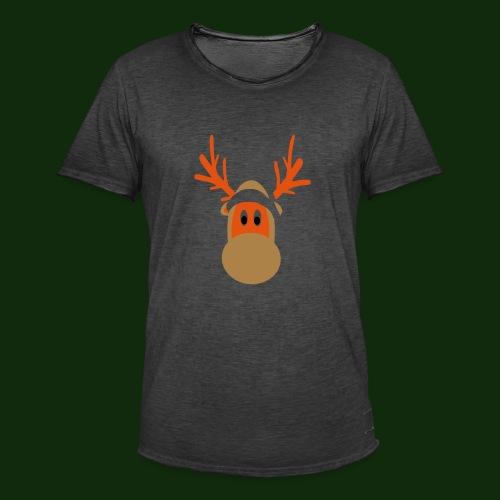 Rentier - Männer Vintage T-Shirt
