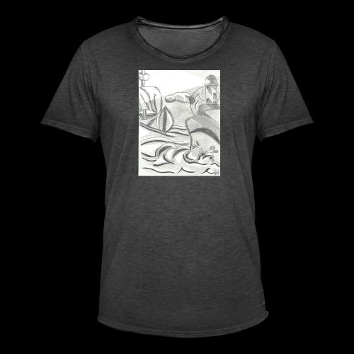 abstrack - Camiseta vintage hombre