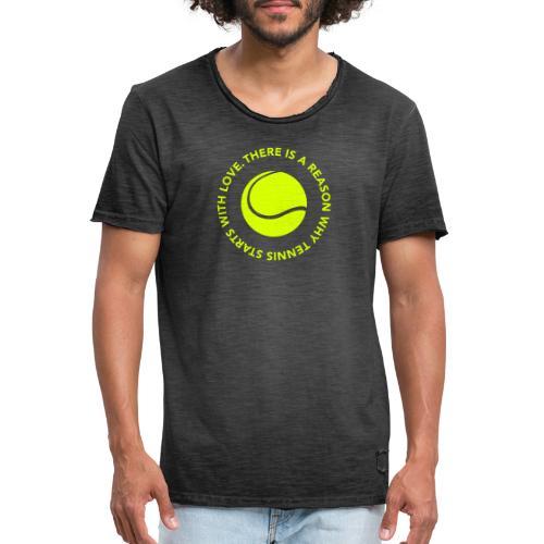 Tennis - LOVE - Männer Vintage T-Shirt