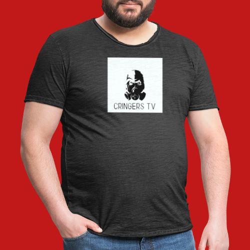 Original Cringers Tv Logga - Vintage-T-shirt herr