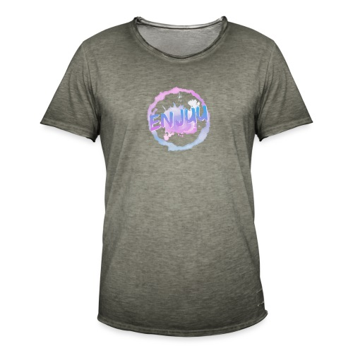 Enjuu Circleart - Männer Vintage T-Shirt