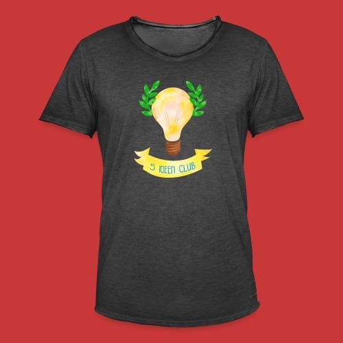 5 IDEEN CLUB Glühbirne 2018 - Männer Vintage T-Shirt