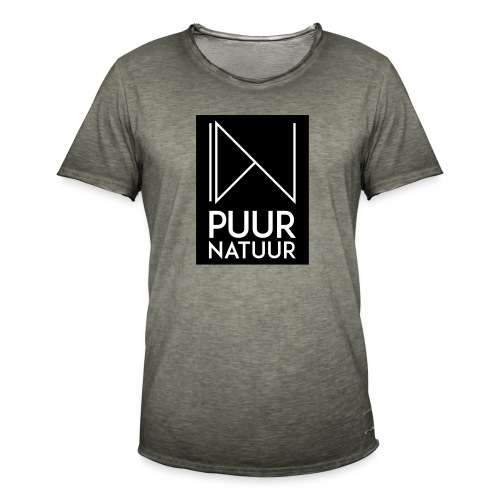 Logo puur natuur negatief - Mannen Vintage T-shirt