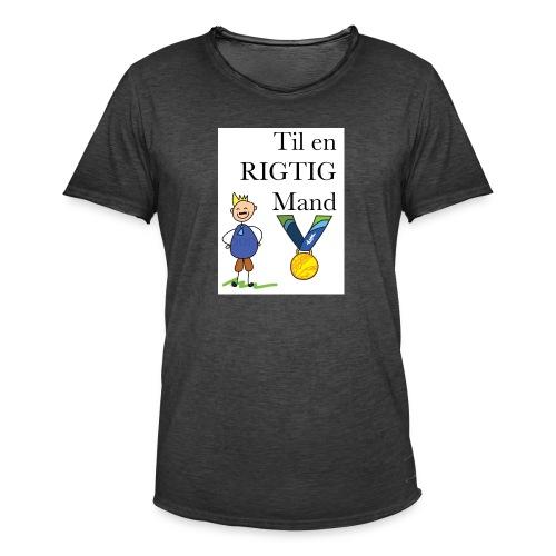 En rigtig mand - Herre vintage T-shirt