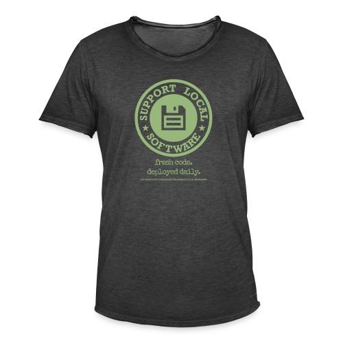 Fresh Code. Deployed Daily. - Men's Vintage T-Shirt