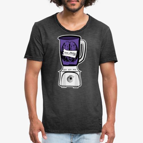 Hirn im Mixer_ lila - Männer Vintage T-Shirt
