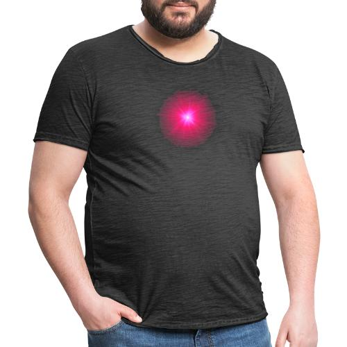 różowe promienie - Koszulka męska vintage