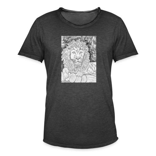 leone - Maglietta vintage da uomo