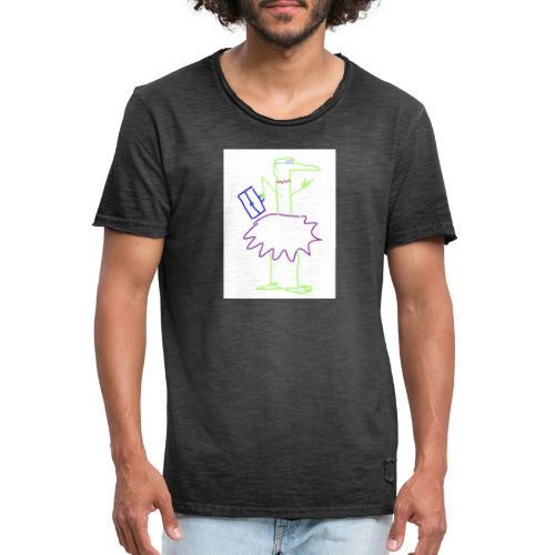 Lady with suitcase - Männer Vintage T-Shirt