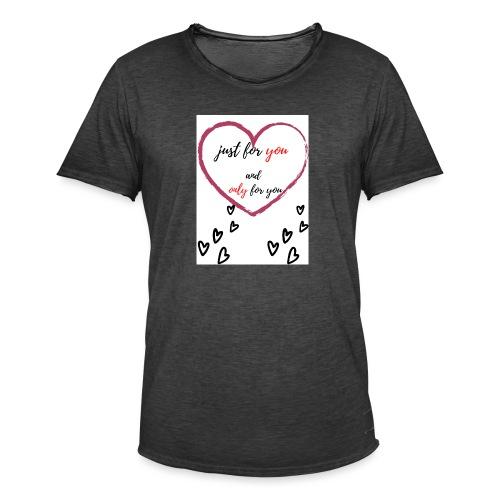 just for lovers design - Mannen Vintage T-shirt