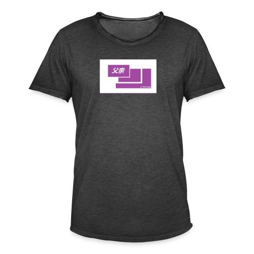 thoughtful mom gay design box logo - Miesten vintage t-paita