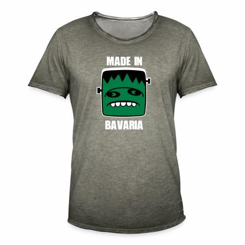 Fonster weiß made in Bavaria - Männer Vintage T-Shirt