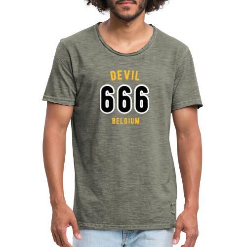 666 devil Belgium - T-shirt vintage Homme