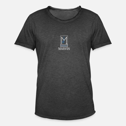 MARVIN a class brand - white and light blue - Maglietta vintage da uomo